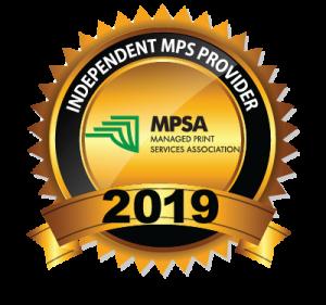 Managed Print Services Association Best Independent service provider 2019